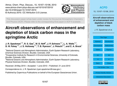 Aircraft Observations of Enhancement and... by Spackman, J. R.