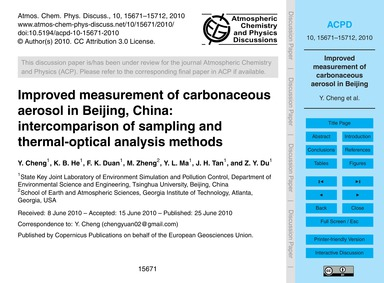 Improved Measurement of Carbonaceous Aer... by Cheng, Y.