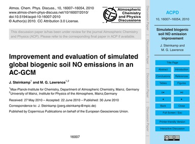 Improvement and Evaluation of Simulated ... by Steinkamp, J.