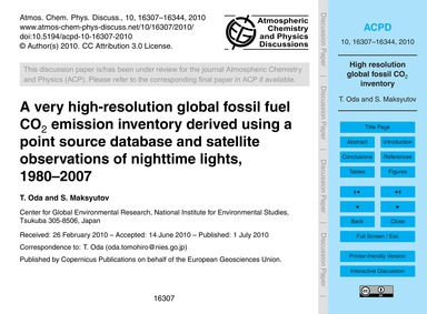 A Very High-resolution Global Fossil Fue... by Oda, T.