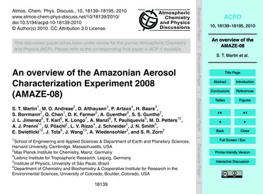 An Overview of the Amazonian Aerosol Cha... by Martin, S. T.