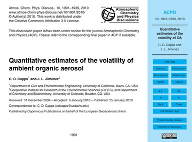 Quantitative Estimates of the Volatility... by Cappa, C. D.