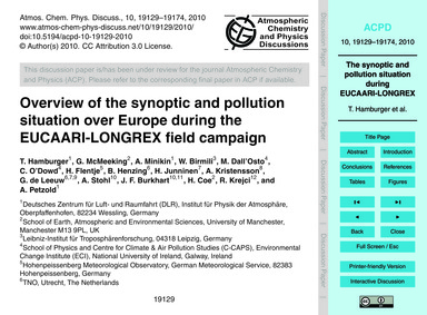 Overview of the Synoptic and Pollution S... by Hamburger, T.
