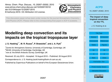 Modelling Deep Convection and Its Impact... by Hosking, J. S.