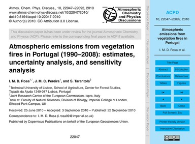 Atmospheric Emissions from Vegetation Fi... by Rosa, I. M. D.