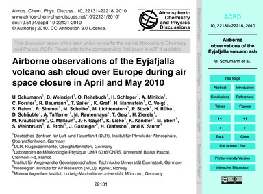 Airborne Observations of the Eyjafjalla ... by Schumann, U.