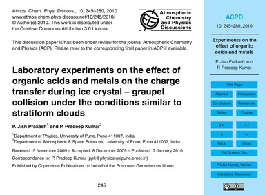 Laboratory Experiments on the Effect of ... by Jish Prakash, P.