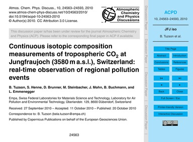 Continuous Isotopic Composition Measurem... by Tuzson, B.