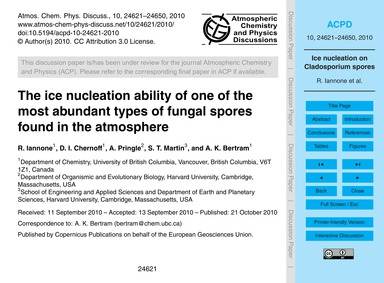 The Ice Nucleation Ability of One of the... by Iannone, R.
