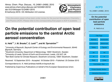 On the Potential Contribution of Open Le... by Held, A.