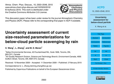 Uncertainty Assessment of Current Size-r... by Wang, X.