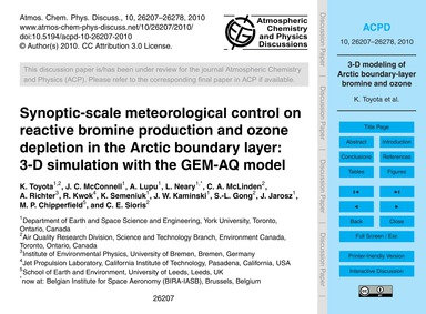Synoptic-scale Meteorological Control on... by Toyota, K.