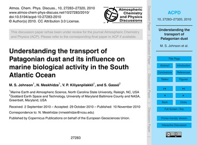 Understanding the Transport of Patagonia... by Johnson, M. S.