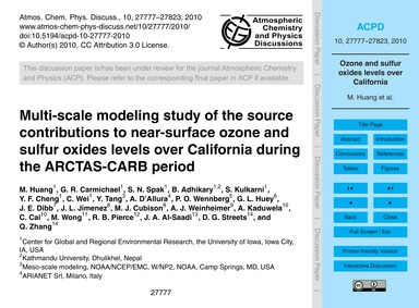Multi-scale Modeling Study of the Source... by Huang, M.
