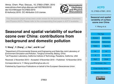 Seasonal and Spatial Variability of Surf... by Wang, Y.
