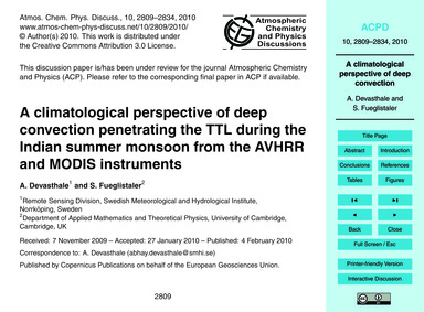 A Climatological Perspective of Deep Con... by Devasthale, A.