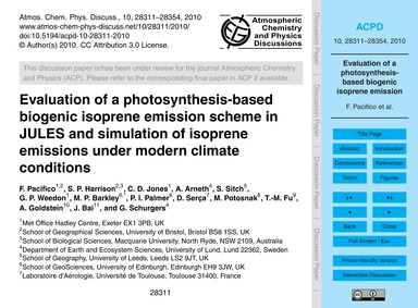 Evaluation of a Photosynthesis-based Bio... by Pacifico, F.