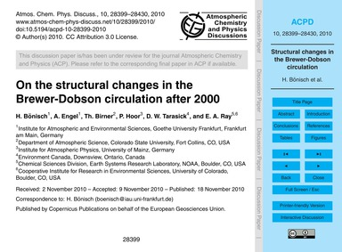 On the Structural Changes in the Brewer-... by Bönisch, H.