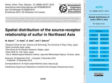 Spatial Distribution of the Source-recep... by Kajino, M.