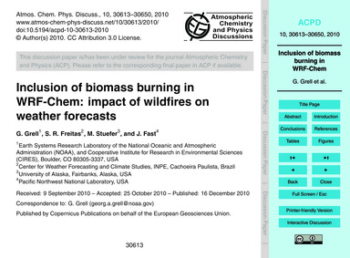 Inclusion of Biomass Burning in Wrf-chem... by Grell, G.