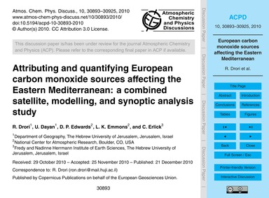 Attributing and Quantifying European Car... by Drori, R.