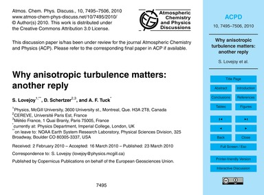 Why Anisotropic Turbulence Matters: Anot... by Lovejoy, S.