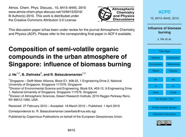 Composition of Semi-volatile Organic Com... by He, J.