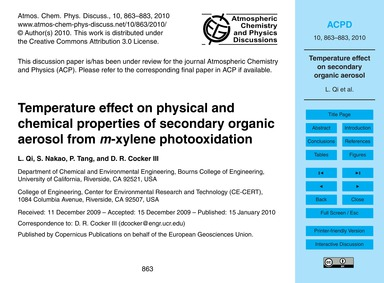 Temperature Effect on Physical and Chemi... by Qi, L.