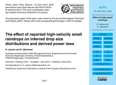 The Effect of Reported High-velocity Sma... by Leijnse, H.