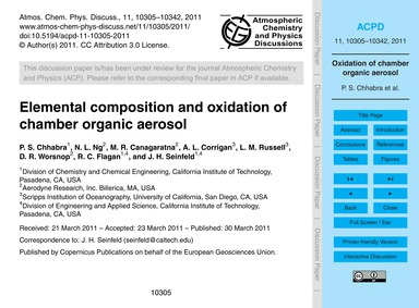 Elemental Composition and Oxidation of C... by Chhabra, P. S.