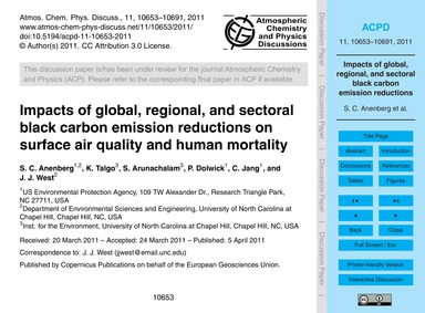 Impacts of Global, Regional, and Sectora... by Anenberg, S. C.