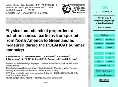 Physical and Chemical Properties of Poll... by Quennehen, B.