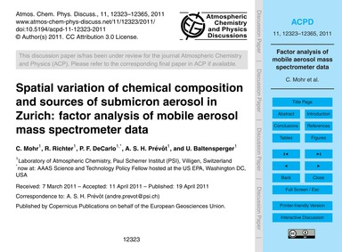 Spatial Variation of Chemical Compositio... by Mohr, C.