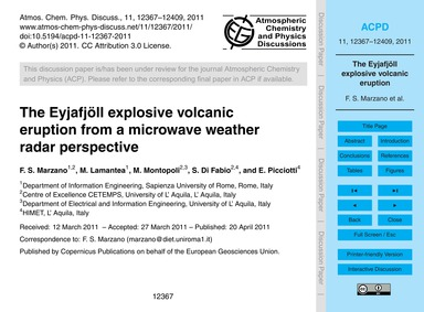 The Eyjafjöll Explosive Volcanic Eruptio... by Marzano, F. S.