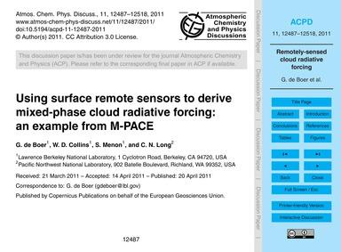 Using Surface Remote Sensors to Derive M... by De Boer, G.