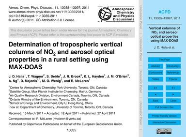 Determination of Tropospheric Vertical C... by Halla, J. D.