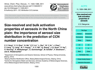Size-resolved and Bulk Activation Proper... by Deng, Z. Z.