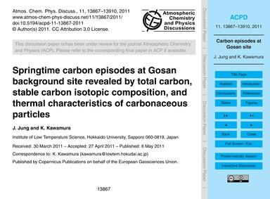 Springtime Carbon Episodes at Gosan Back... by Jung, J.