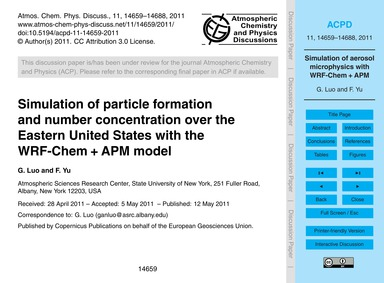 Simulation of Particle Formation and Num... by Luo, G.