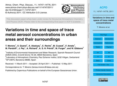 Variations in Time and Space of Trace Me... by Moreno, T.