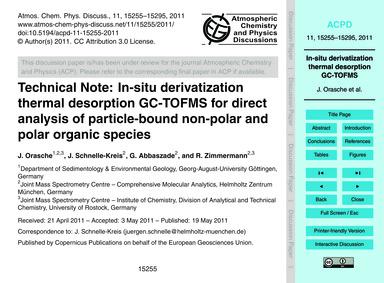 Technical Note: In-situ Derivatization T... by Orasche, J.