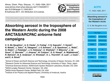 Absorbing Aerosol in the Troposphere of ... by MC Naughton, C. S.