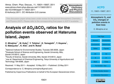 Analysis of Δo2/Δco2 Ratios for the Poll... by Minejima, C.