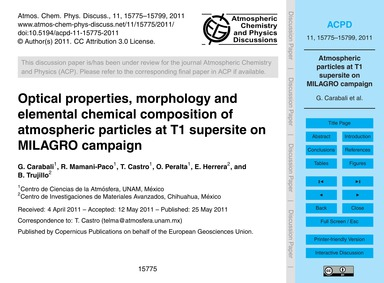 Optical Properties, Morphology and Eleme... by Carabali, G.