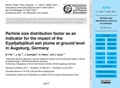 Particle Size Distribution Factor as an ... by Pitz, M.