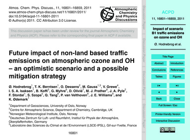 Future Impact of Non-land Based Traffic ... by Hodnebrog, Ø.