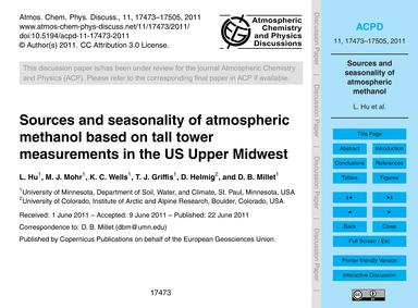 Sources and Seasonality of Atmospheric M... by Hu, L.
