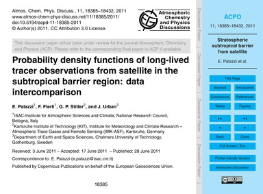 Probability Density Functions of Long-li... by Palazzi, E.