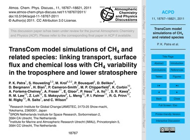 Transcom Model Simulations of Ch4 and Re... by Patra, P. K.