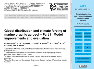 Global Distribution and Climate Forcing ... by Meskhidze, N.